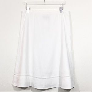 Talbots white Linen Ladder-Lace Skirt size 14